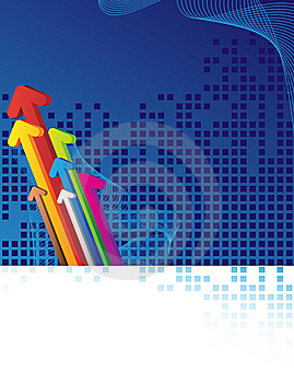 Arrows And Blue Background Stock Images - Image: 8623434