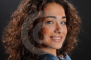 Beautiful Model With Curly Hair Stock Photo - Image: 8623440