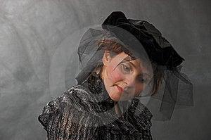 Dame In Zwarte Stock Afbeeldingen - Afbeelding: 8623444