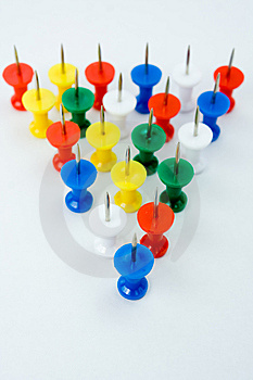 Push Pins Formation Stock Photo - Image: 8623650