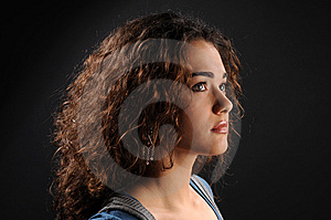 Beautiful Model With Curly Hair Stock Photos - Image: 8623663