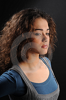 Young Beautiful Woman's Portrait Stock Image - Image: 8623671