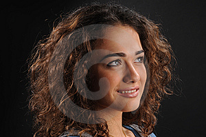 Beautiful Model With Curly Hair Royalty Free Stock Images - Image: 8623699
