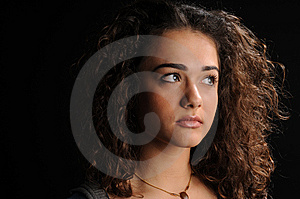 Beautiful Model With Curly Hair Royalty Free Stock Image - Image: 8623746