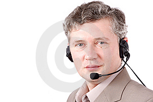 Helpdesk Or Support Operator. How Can I Help You? Stock Images - Image: 8623794