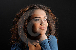 Beautiful Model With Curly Hair Royalty Free Stock Image - Image: 8623946