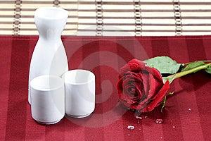 Rose And Sake Royalty Free Stock Photo - Image: 8623965