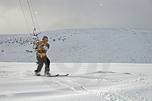 Kite Skiing Stock Photos - Image: 8624143