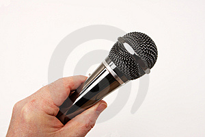 Hand Microphone Royalty Free Stock Images - Image: 8624189