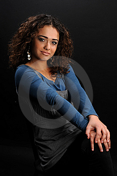 Beautiful Model With Curly Hair Royalty Free Stock Photo - Image: 8624195
