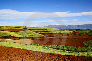 The Red Soil Of Dongchuan Royalty Free Stock Images - Image: 8624209