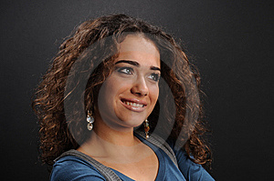 Beautiful Model With Curly Hair Stock Photography - Image: 8624212