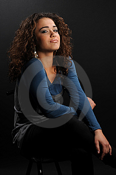 Young Beautiful Woman's Portrait Royalty Free Stock Photography - Image: 8624227