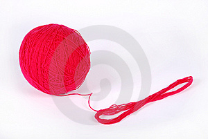 Red Clew Isolated On A White Background Stock Image - Image: 8624251