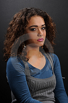Beautiful Model With Curly Hair Royalty Free Stock Image - Image: 8624256