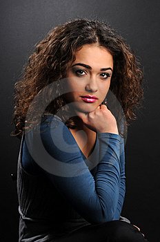 Beautiful Model With Curly Hair Stock Photos - Image: 8624303