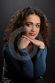 Beautiful Model With Curly Hair Royalty Free Stock Photography - Image: 8624337