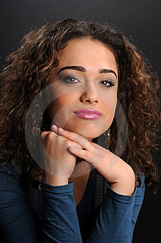 Beautiful Model With Curly Hair Stock Images - Image: 8624454
