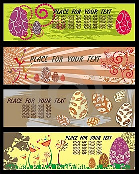 Easter Banners With Room For Your Text. Royalty Free Stock Photo - Image: 8624465