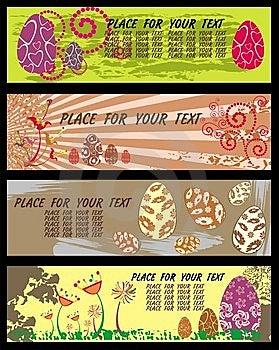 Pasen-Banners Met Ruimte Voor Uw Tekst. Royalty-vrije Stock Foto - Afbeelding: 8624465