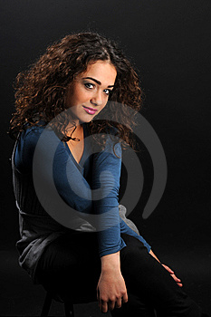 Young Beautiful Woman's Portrait Royalty Free Stock Photography - Image: 8624587