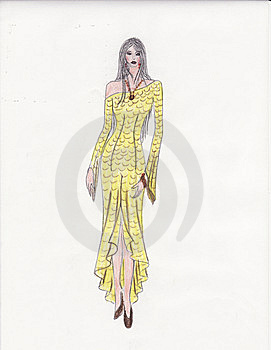 Illustration Of Fashion Girl Stock Images - Image: 8624604
