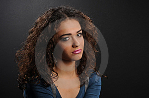 Beautiful Model With Curly Hair Royalty Free Stock Photography - Image: 8624617