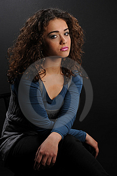 Beautiful Model With Curly Hair Stock Images - Image: 8624644