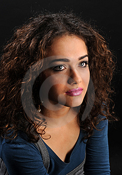 Beautiful Model With Curly Hair Stock Images - Image: 8624674