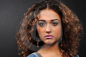Beautiful Model With Curly Hair Royalty Free Stock Photos - Image: 8624708