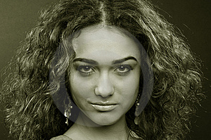 Beautiful Model With Curly Hair Royalty Free Stock Photography - Image: 8624737