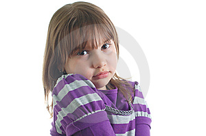 Sad Little Girl Stock Photos - Image: 8624843