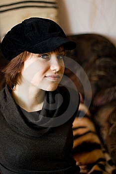 Girl In Cap Stock Photography - Image: 8624862
