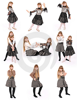 Two Girl Poses Royalty Free Stock Photography - Image: 8624887
