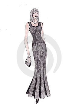 Illustration Of Fashion Girl Royalty Free Stock Images - Image: 8624919