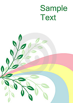 Positive Spring Vector Card Royalty Free Stock Images - Image: 8625019