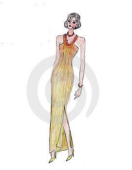 Illustration Of Fashion Girl Royalty Free Stock Photo - Image: 8625045
