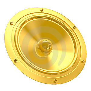 Golden Speaker Royalty Free Stock Photo - Image: 8625075