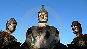 Three Buddhas Stock Photo - Image: 8625190