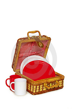 Picnic Handbasket Royalty Free Stock Photography - Image: 8625267