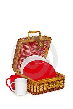 Picnic Handbasket Royalty Free Stock Photography - Image: 8625267