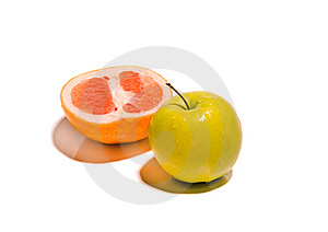 Fresh Fruits Isolated Royalty Free Stock Photography - Image: 8625497