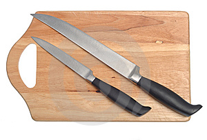 Cutting Board And Knives Royalty Free Stock Image - Image: 8625796