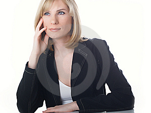 Portrait Of The Young Beautiful Businesswoman Stock Image - Image: 8625971