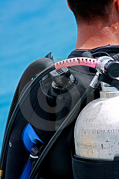 Man Is Ready For Diving Stock Images - Image: 8625974