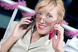 Pretty Businesswoman Stock Photo - Image: 8626220