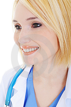 Profile Portrait Of Beauty Young Female Doctor Royalty Free Stock Photo - Image: 8626415