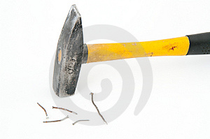 Hammer With Nails Stock Photos - Image: 8626533