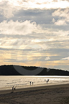 Plage De Coucher Du Soleil Photo stock - Image: 8626670