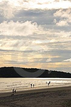 Spiaggia Di Tramonto Fotografia Stock - Immagine: 8626670